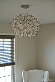 wonderful lighting accessories with lotus capiz chandelier simple and neat image of home interior lighting