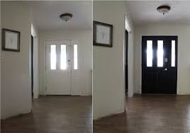 it made our old beat up door look new and expensive i was kind of worried about doing such a dark color in a space where