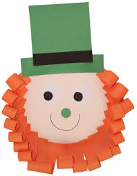 template of a leprechaun leprechaun paper plate craft no template version