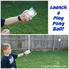 launch a ping pong ball make a homemade shooter out of a plastic bottle