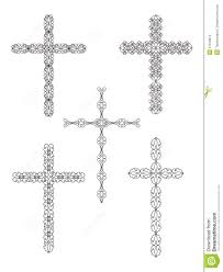 Cross Designs Set Of Religious Cross Designs Stock Vector Illustration