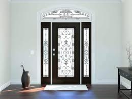 metal exterior doors with glass front door window inserts blinds steel insert slab
