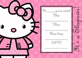 Hello Kitty Invitations Templates Magdalene Project Org