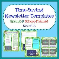 Spring School Newsletter Templates Easy To Use Set Of 12 Tpt