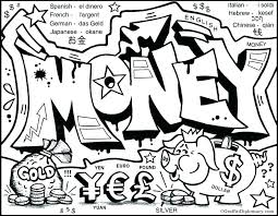 Money Coloring Pages Sheet