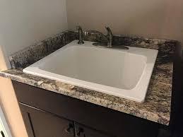 sink for granite countertop top mount sink on granite incredible bathroom image and toaster interior design
