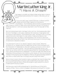 th grade literacy center ideas resources lesson plans   martin luther king jr s i have a dream speech