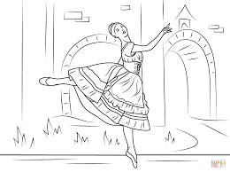 Sleeping Beauty Ballet Superb Ballet Coloring Pages - Coloring ...