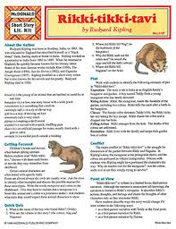 dominie rikki tikki tavi short story literature kit rikki tikki tavi short story literature kit
