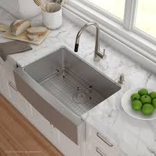 stainless farm sink. Brilliant Sink Shop Kraus KHF20030 Standart PRO Farmhouse Apron 30inch 16 Gauge Single  Bowl Satin Stainless Steel Kitchen Sink  Free Shipping Today Overstockcom  On Farm E