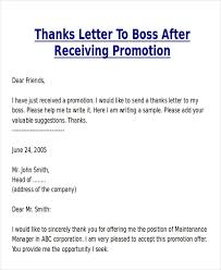 Thank You Letter After Promotion Letter Of Recommendation