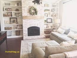 built ins shiplap whitewash brick fireplace bookshelf styling rustic mantle