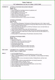 54 Phenomenal Junior Qa Resume Sample You Need To Try Now