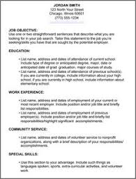 write resume for job