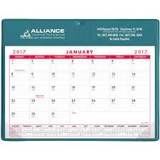 Basic Calendars Promotional Non Stock Colors Basic Desk Pad Calendar Doodle Pads