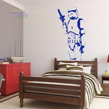 star wars poster large storm trooper vinyl wall sticker wall art silhouette wall decal big mural