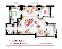 Small Picture Floor plans of homes from famous TV shows