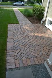 brick paver patio herringbone. Contemporary Patio Reclaimed Barr Brick Paver Walking Path For Patio Herringbone P