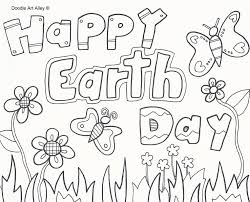 Small Picture Earth Day Coloring Pages Doodle Art Alley