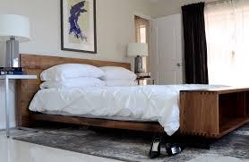 mid century modern bed   homes design inspiration