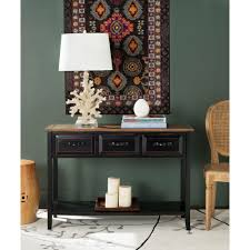 Incredible Black Console Table Target With Drawer Storage Pic For