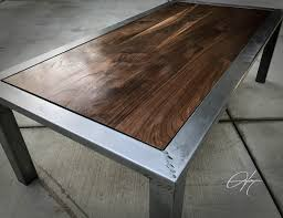 industrial steel furniture. Walnut And Distressed Steel Coffee Table. Industrial PipeVintage IndustrialSteel FurnitureCustom Furniture A