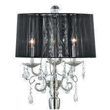 chrome 3 light black shade crystal chandelier brushed nickel black shade 22 wide crystal chandelier crystal chandelier floor lamp with black drum shade in