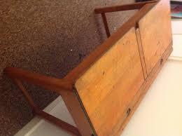 child s old school desk solid