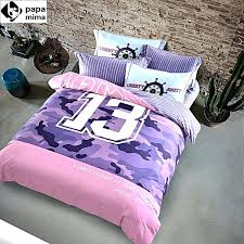 papaampmima multicolor camouflage print bedlinens high quality sanding cotton fabric queen king size pink camouflage duvet