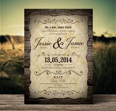 Free Downloadable Wedding Invitation Templates Simple 48 Vintage Wedding Invitations Free PSD Vector AI EPS Format