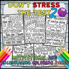 Small Picture Growth Mindset Coloring Pages Posters Sheets Dont Stress The