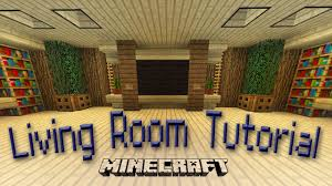 Minecraft Living Room Furniture Minecraft How To Make An Awesome Living Room Design Youtube