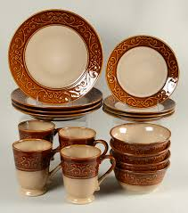 better homes gardens embossed scroll 16 piece set at