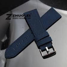 sport watch band page 3 stainlesssteel buy 18mm 20mm 22mm 24mm dark blue nylon canvas durable sport padded watch strap comfortable leather lining men s watch band