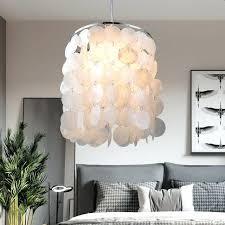 natural shell pendant lights for dining room kitchen bedroom bulb white fantastic light shade shell pendant light