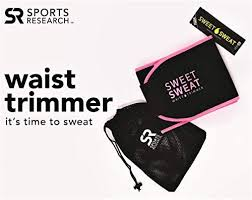 Sports Research <b>Sweet Sweat</b> Premium <b>Waist</b> Trimmer (Pink Logo ...