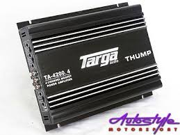 amplifiers and crossovers car audio targa thump series 4200w 4channel amplifier