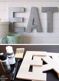 L Anthro Inspired Faux Zinc Letters