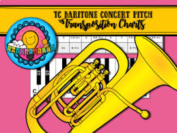 Brass Transposition Chart Bb To Concert Pitch Transposition Chart For Treble Clef Tc Baritone