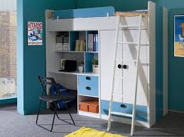 bed with wardrobe. Simple With Oxford High Sleeper Bed In Blue And White  On With Wardrobe O