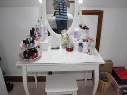 white ikea vanity table