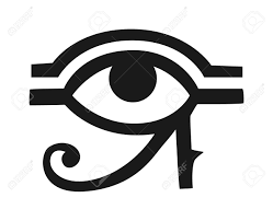 Egypt God Ra Vector Symbol Sun Eye Of Egypt God Ra Reverse Moon Eye Of Thoth Egypt God Ra Vector Hand Drawn Set Egypt God Ra Isolated On White