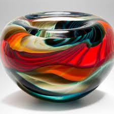 Decorative Red Glass Bowls Decorative Red Glass Bowls Black 'Paradiso' Medium Thick Bowl 1