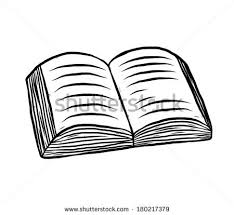 book opened cartoon vector and ilration black and white hand drawn sketch