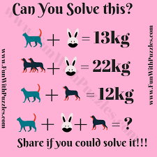 easy mathematical equations brain teaser for kids