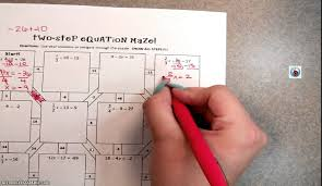 equation maze