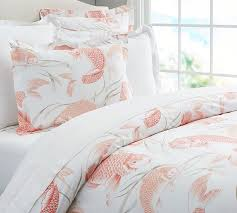 koi fish organic duvet cover sham pottery barn with regard to c covers plans 13