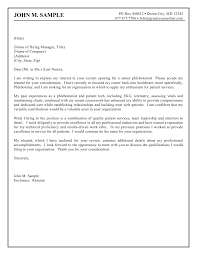Sample Of Cover Letters Phlebotomist Planner Cover Letter Jobsxs Com