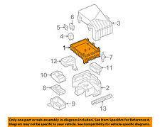 volkswagen rabbit car truck interior switches controls vw volkswagen oem 09 10 jetta 2 0l l4 fuse box fuse relay box 1k0937125a fits volkswagen rabbit