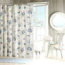 seashell fabric shower curtains park blue seas fabric shower curtain fabric seashell shower curtains